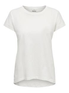 Jacqueline de Yong T-shirt JDYPASTEL LIFE S/S FOLD UP TOP JRS 15200610 Cloud Dancer