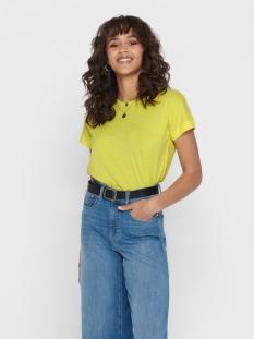 jdypastel life s/s fold up top jrs 15200610 jacqueline de yong t-shirt celandine