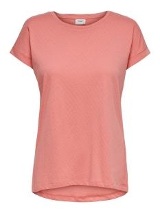 Jacqueline de Yong T-shirt JDYPASTEL LIFE S/S FOLD UP TOP JRS 15200610 Peach Blossom