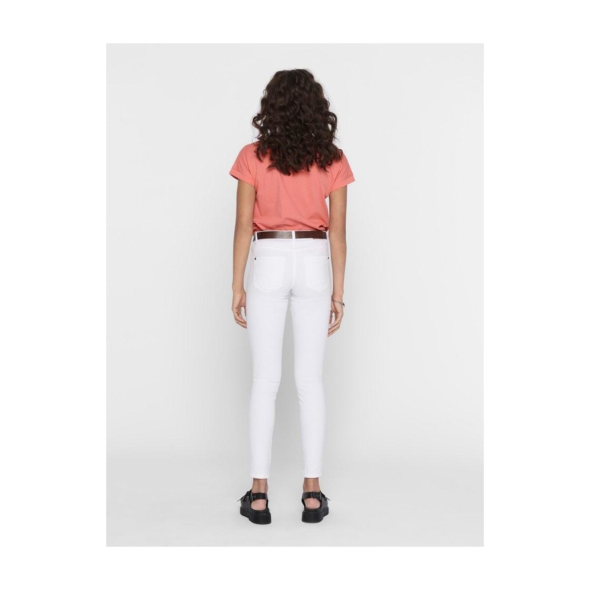 jdypastel life s/s fold up top jrs 15200610 jacqueline de yong t-shirt peach blossom