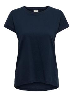 Jacqueline de Yong T-shirt JDYPASTEL LIFE S/S FOLD UP TOP JRS 15200610 Sky Captain