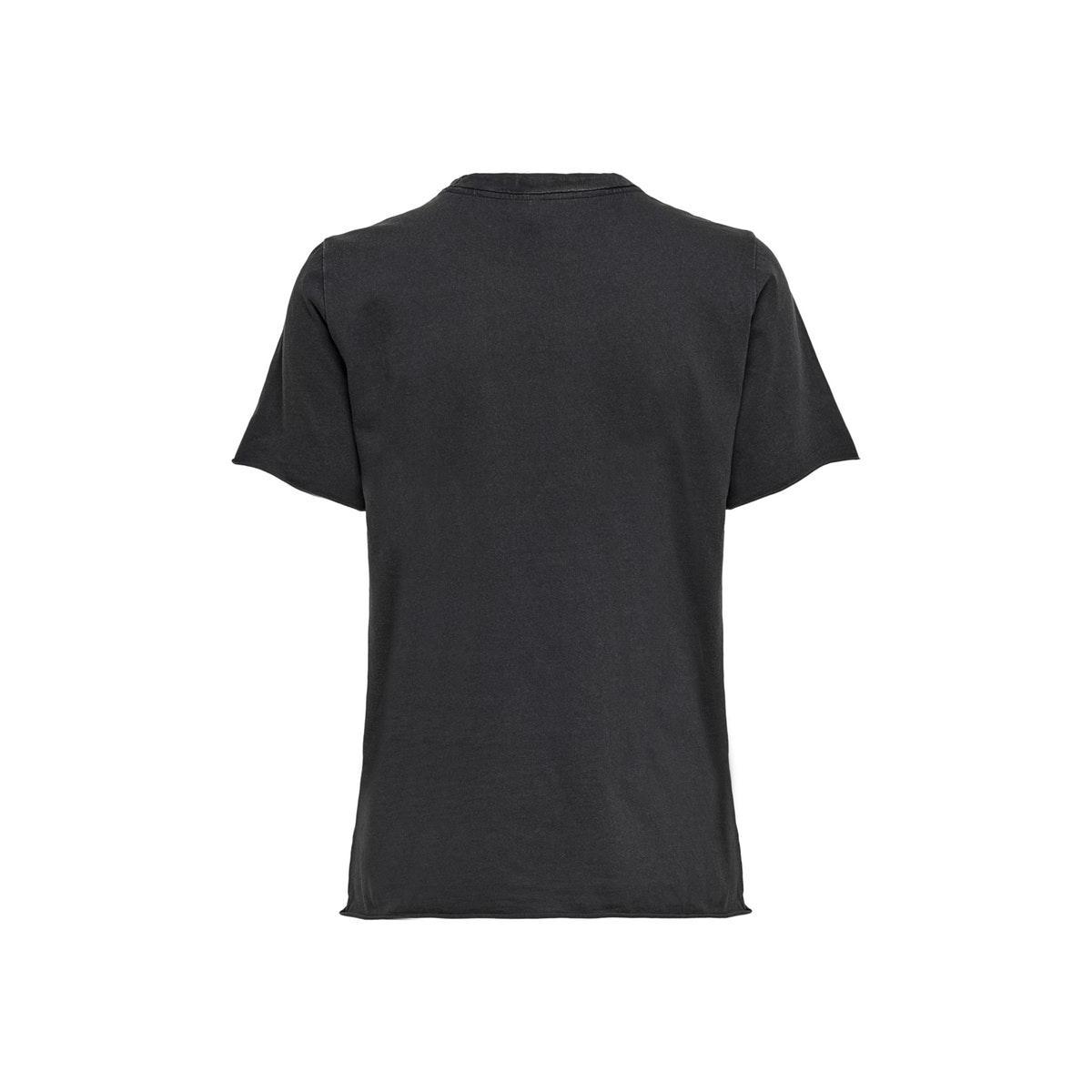 onllucy life reg s/s palm top jrs 15213080 only t-shirt black/beach