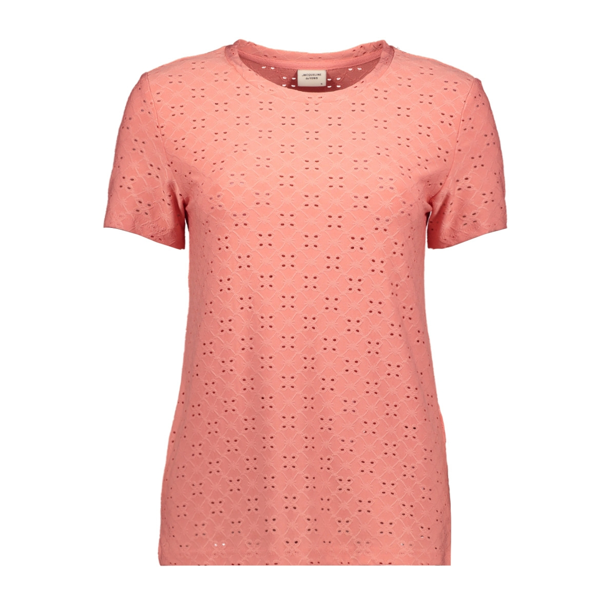jdycathinka s/s tag top jrs noos 15158450 jacqueline de yong t-shirt peach blossom