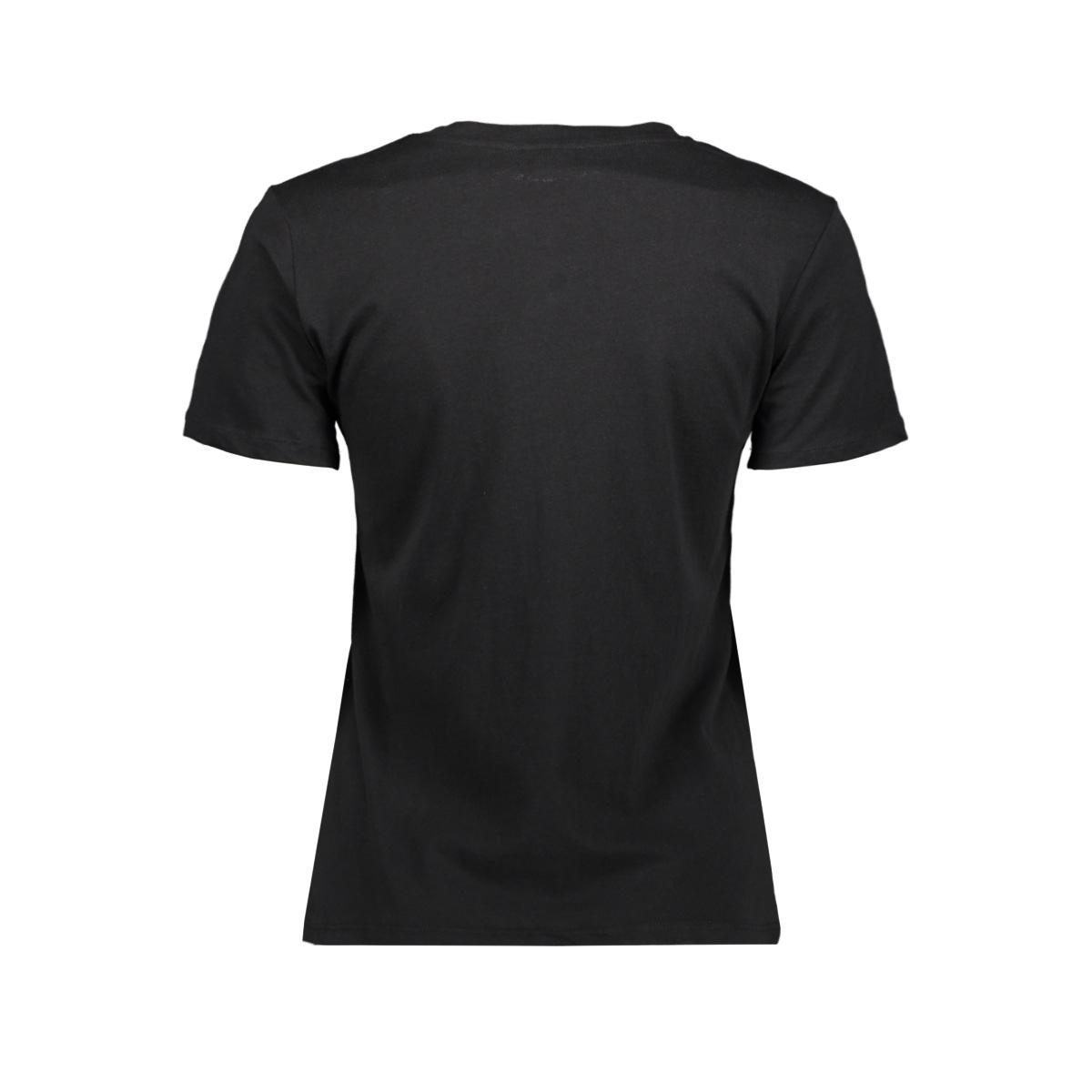 jdydiana life print top jrs 15204478 jacqueline de yong t-shirt black/red orhre