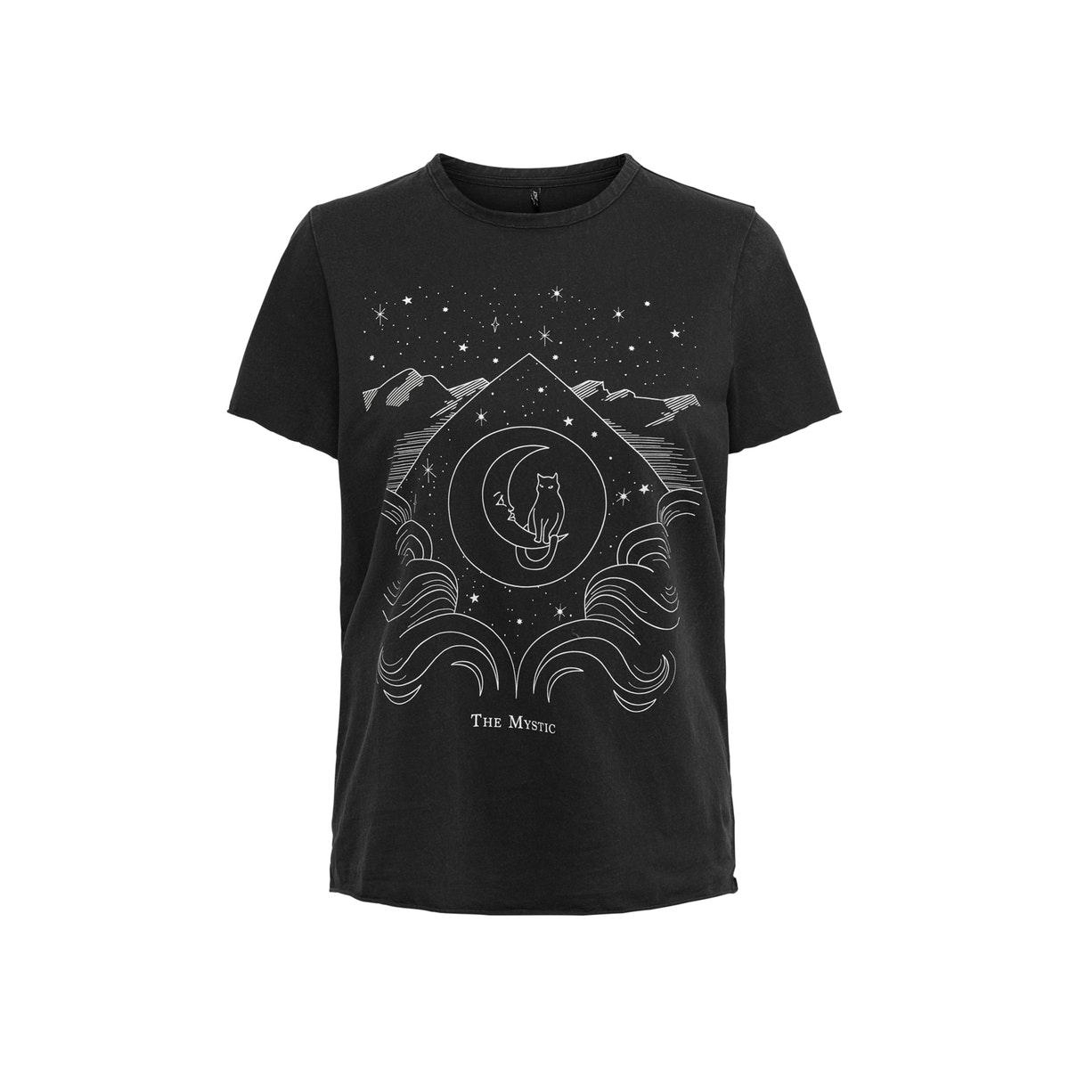 onllucy life fit s/s tarot top box 15214129 only t-shirt black/the mystic