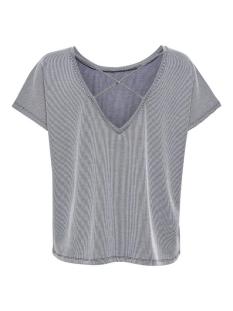 onlshirley s/s string back top jrs 15202736 only t-shirt night sky/cloud danc