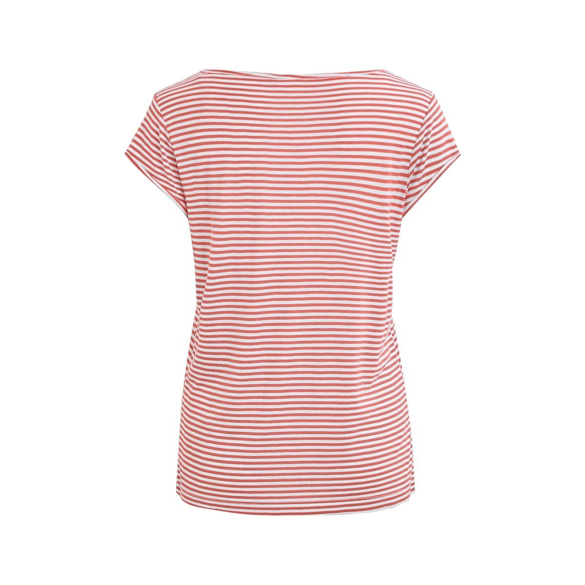 viscoop top - fav 14055569 vila t-shirt dusty cedar/white stripes