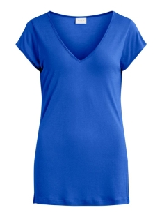 Vila T-shirt VISCOOP TOP - FAV 14055569 Mazarine Blue
