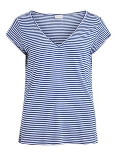 Vila T-shirt VISCOOP TOP - FAV 14055569 Mazarine Blue/WHITE STRIPES