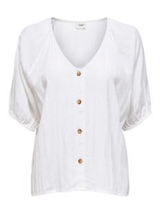 jdytiara 2/4 button top wvn 15204507 jacqueline de yong blouse cloud dancer