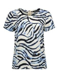 vmsasha ss zip top color 10225336 vero moda t-shirt placid blue/kourtney