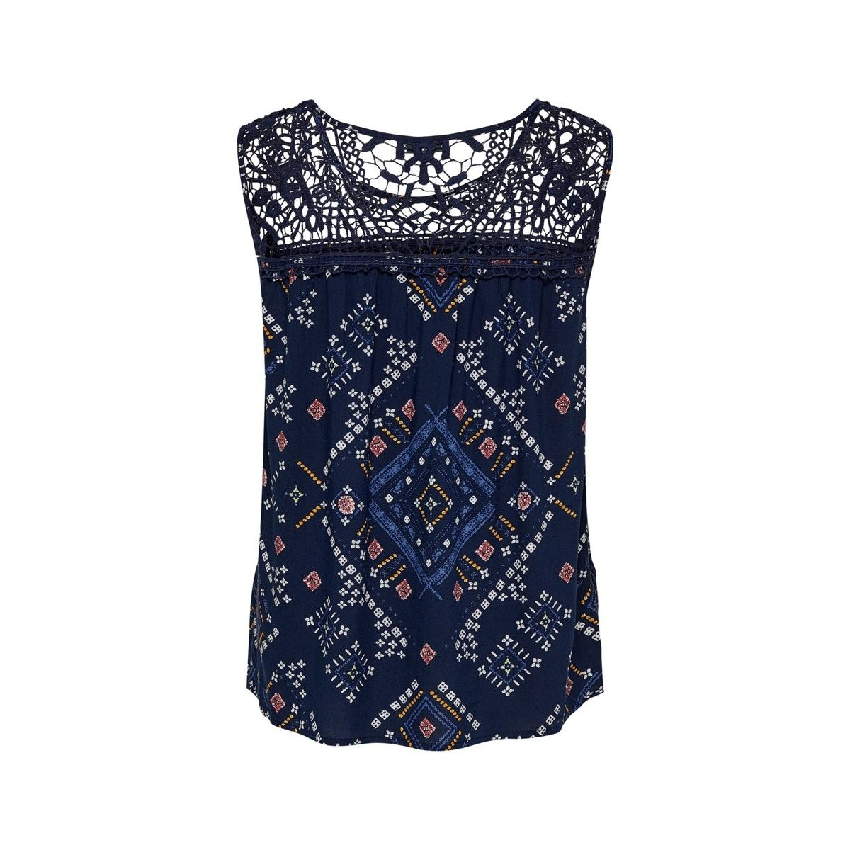 onldee life  s/l top wvn 15201564 only top peacoat/graphic bo