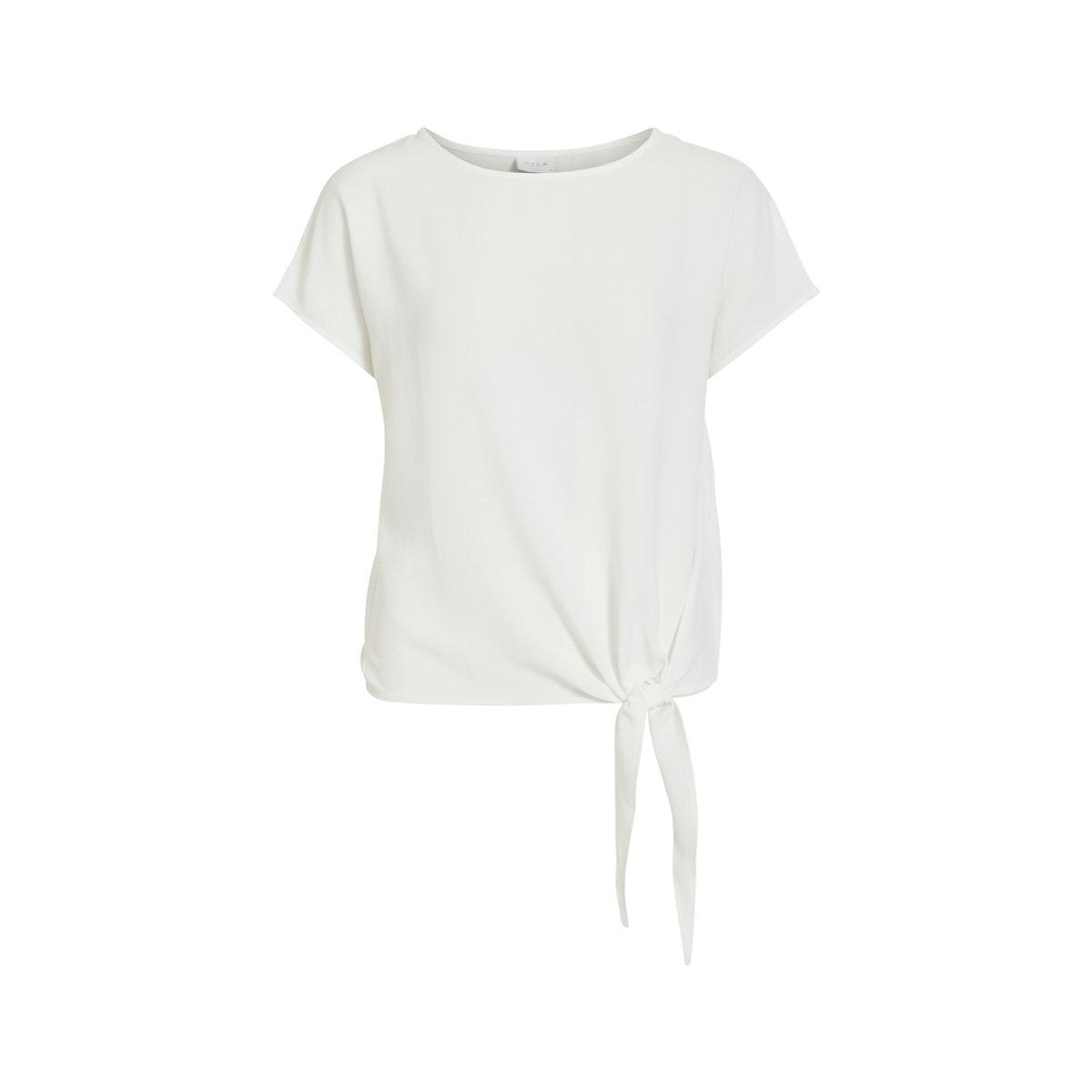 virasha s/s  tie  top 14057523 vila t-shirt cloud dancer
