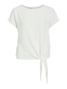 Vila T-shirt VIRASHA S/S  TIE  TOP 14057523 Cloud Dancer