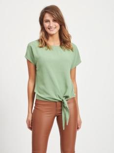 Vila T-shirt VIRASHA S/S  TIE  TOP 14057523 Loden Frost
