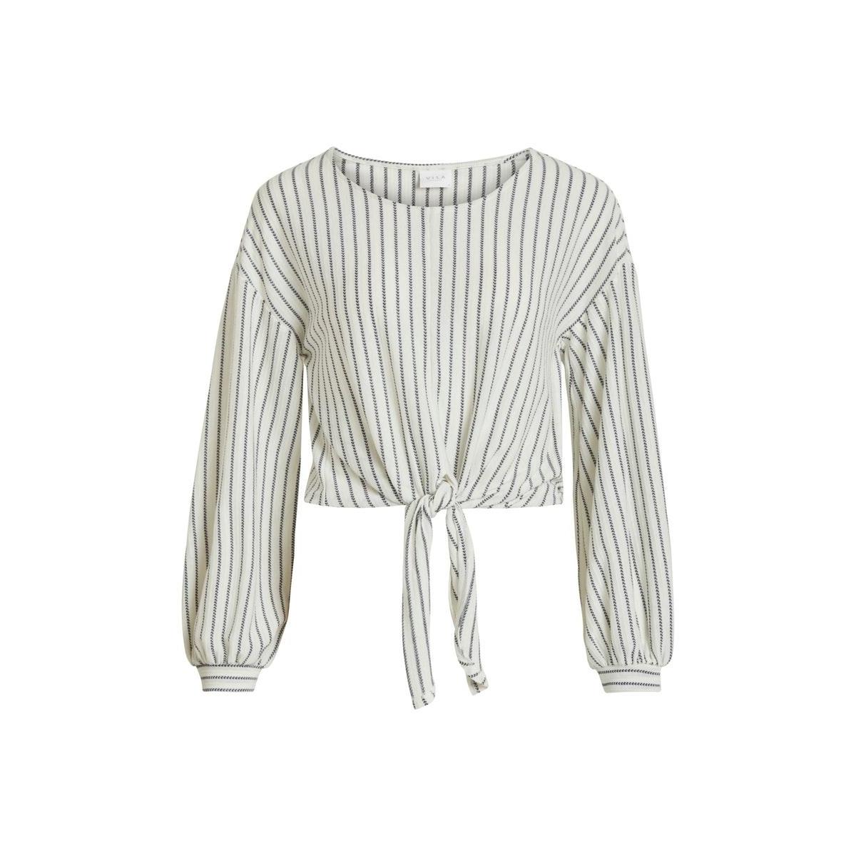 vibuba l/s top/su 14057263 vila t-shirt cloud dancer/navy blazer