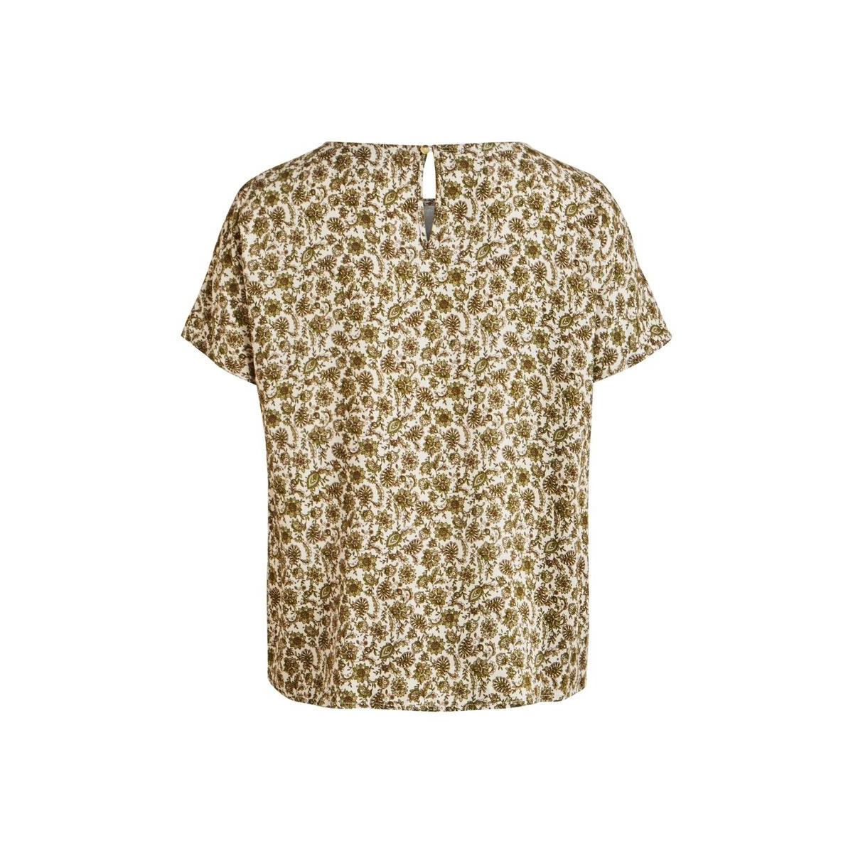 objkalila s/s urban top 108 div 23032531 object t-shirt gardenia/kalila flo