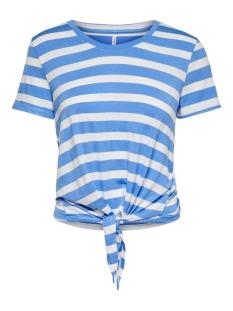 onlarli s/s knot top jrs noos 15178088 only t-shirt marina/cloud danc