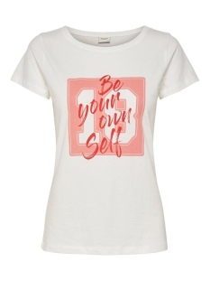 jdychicago life s/s print top jrs 15195298 jacqueline de yong t-shirt cloud dancer/self
