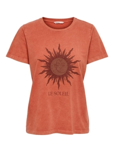 onlmoon star s/s t-shirt jrs 15209727 only t-shirt hot sauce