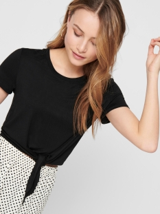 onlarli s/s knot top jrs noos 15178088 only t-shirt black