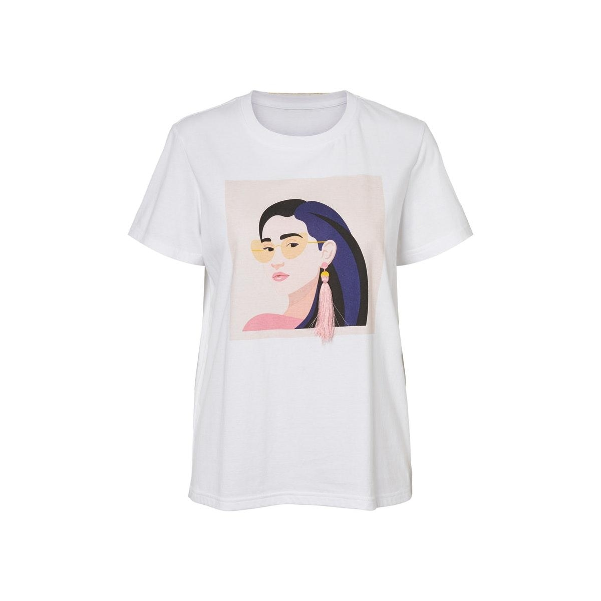 nmnate ann s/s top bg 27011741 noisy may t-shirt bright white/girl w su