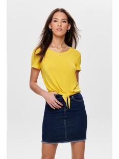 onlarli s/s knot top jrs noos 15178088 only t-shirt lemon drop