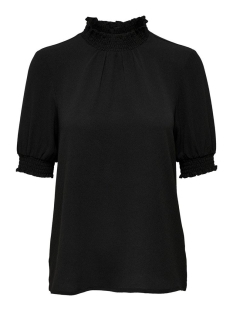 onlnova lux s/s smock top solid wvn 15202551 only blouse black