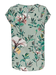 Only T-shirt ONLVIC SS AOP TOP NOOS WVN 15161116 Granite Green/DIDA FLOWER
