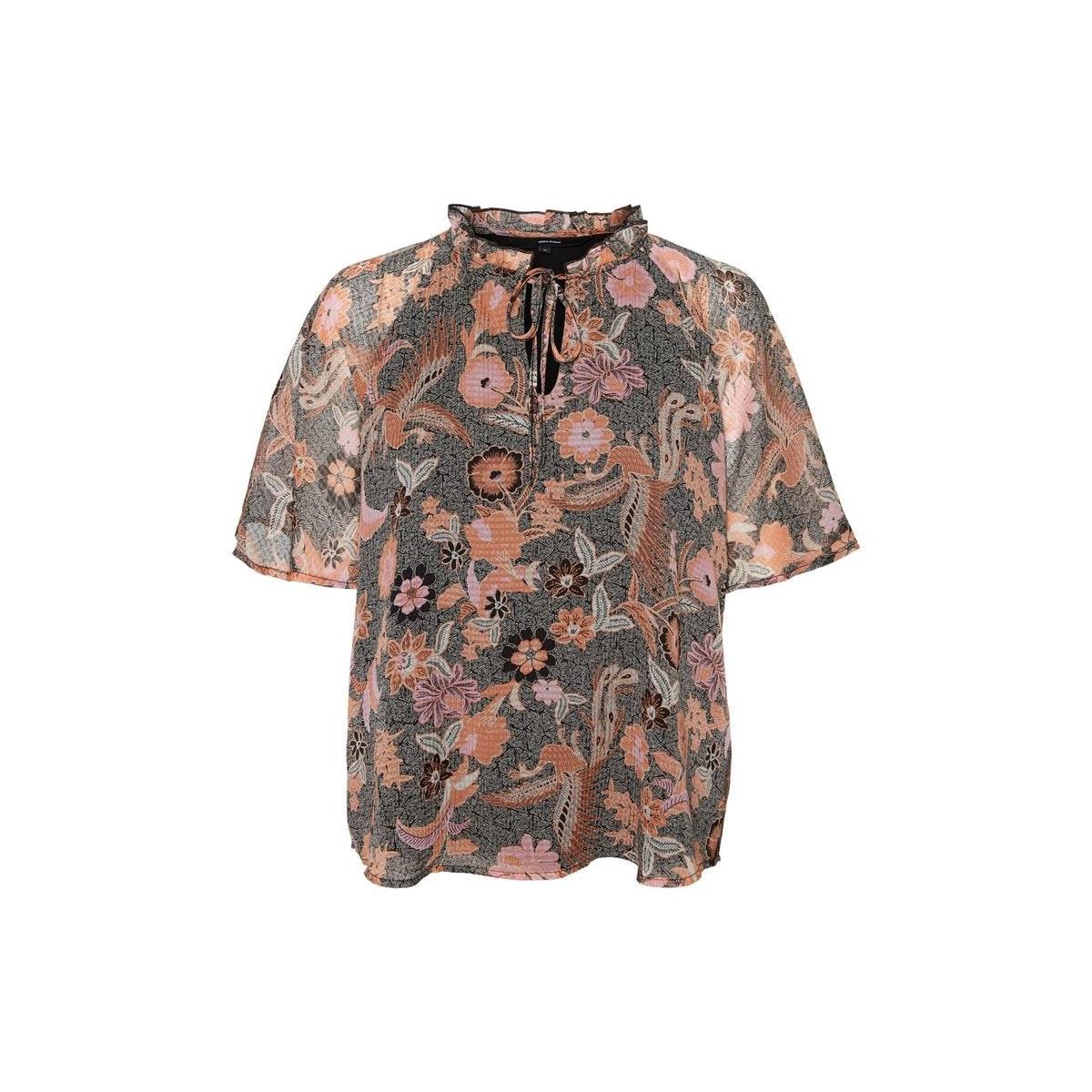 vmnuka s/s top wvn 10230397 vero moda blouse carnelian/nuka