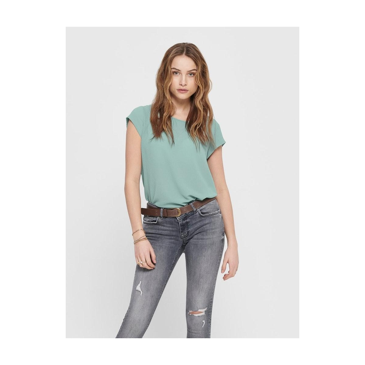 onlvic s/s solid top noos wvn 15142784 only t-shirt blue surf