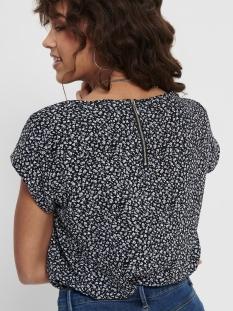 onlvic ss aop top noos wvn 15161116 only t-shirt black/dark ditsy