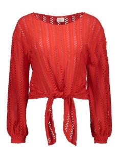 Vila T-shirt VIPILINE L/S T-SHIRT/3 14058309 Flame Scarlet