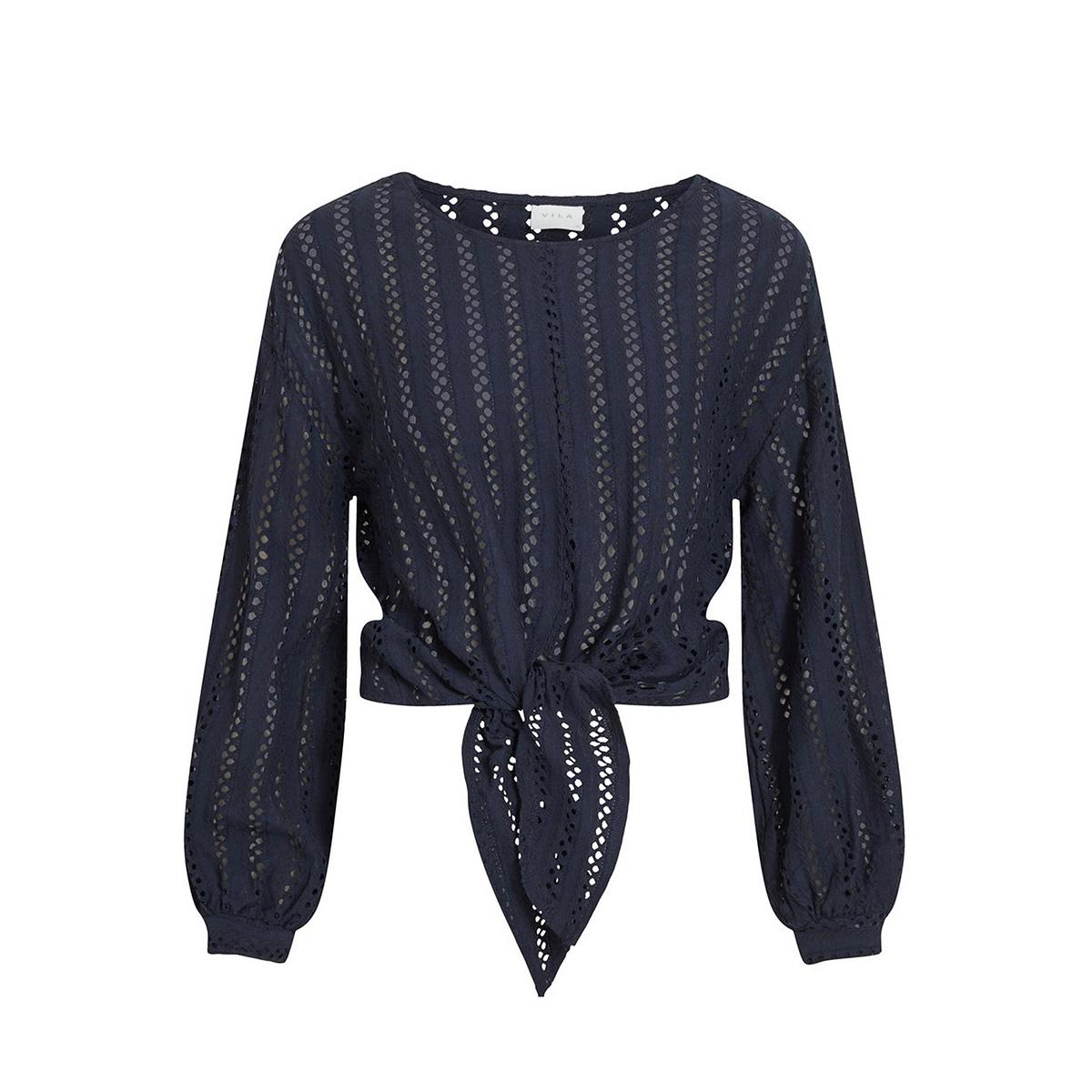 vipiline l/s t-shirt/3 14058309 vila t-shirt navy blazer
