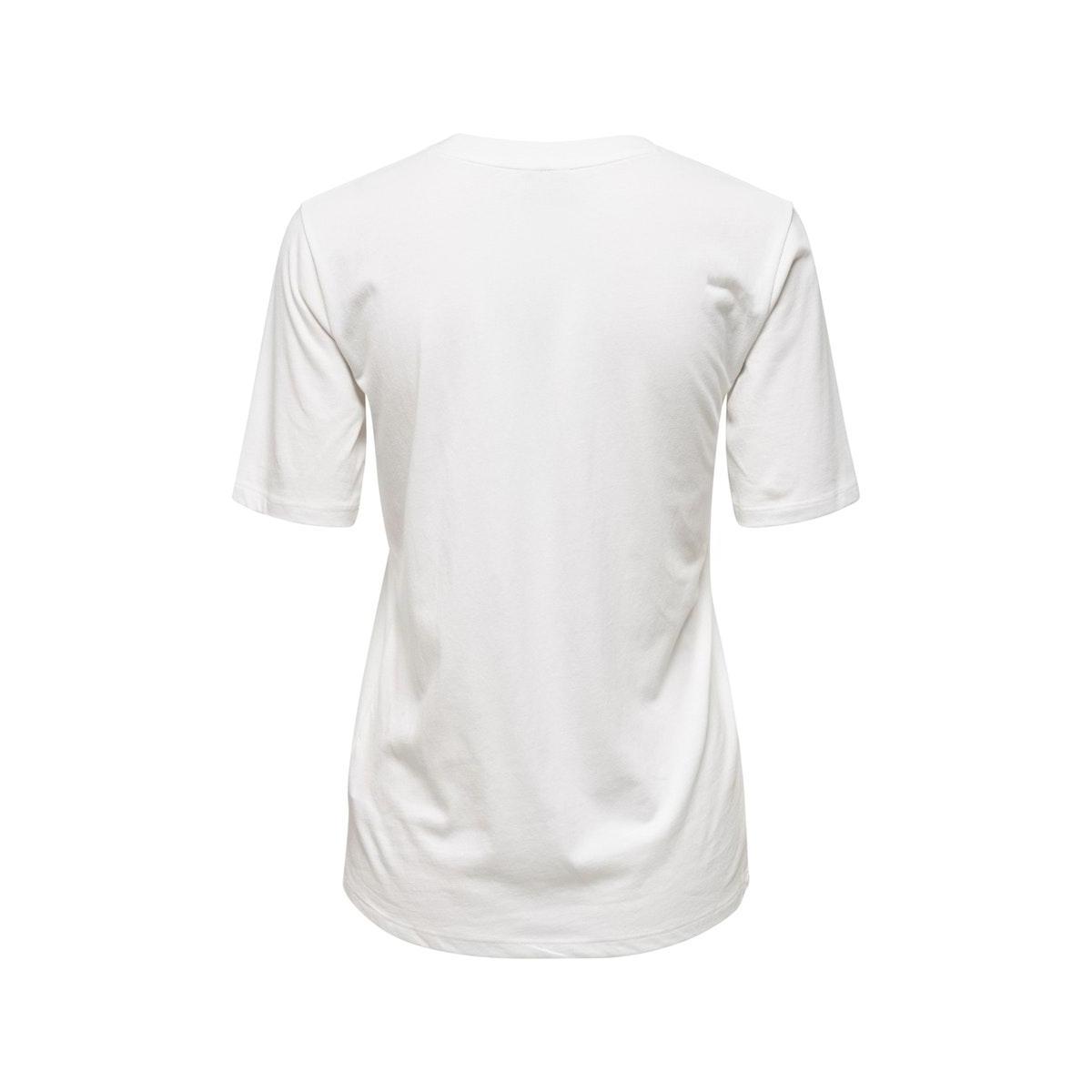 jdynatalie life s/s print top denim 15196545 jacqueline de yong t-shirt cloud dancer/california