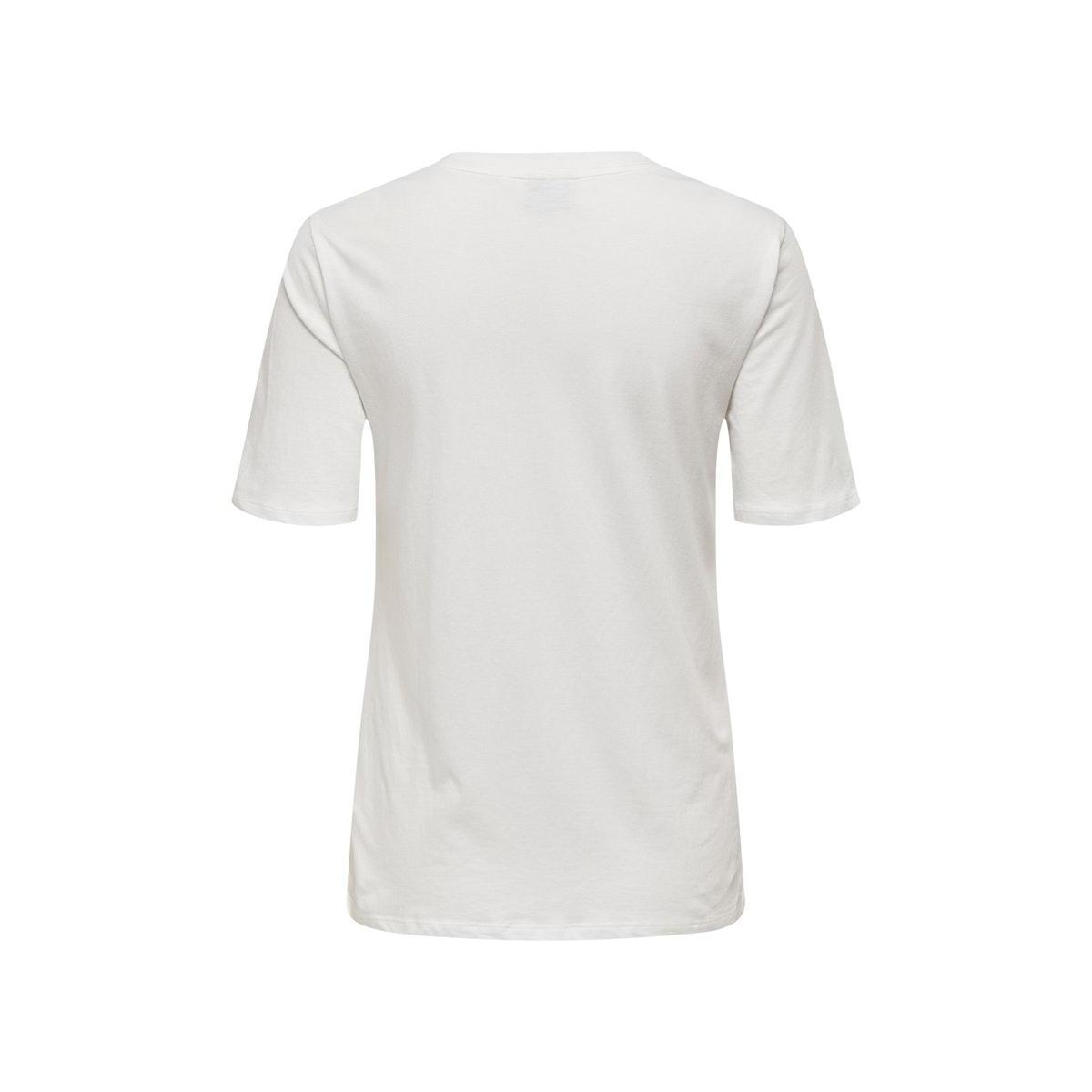 jdynatalie life s/s print top denim 15196545 jacqueline de yong t-shirt cloud dancer/collage