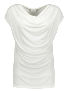 Vila Top VIATETSY WATERFALL S/S TOP/L 14059171 Cloud Dancer
