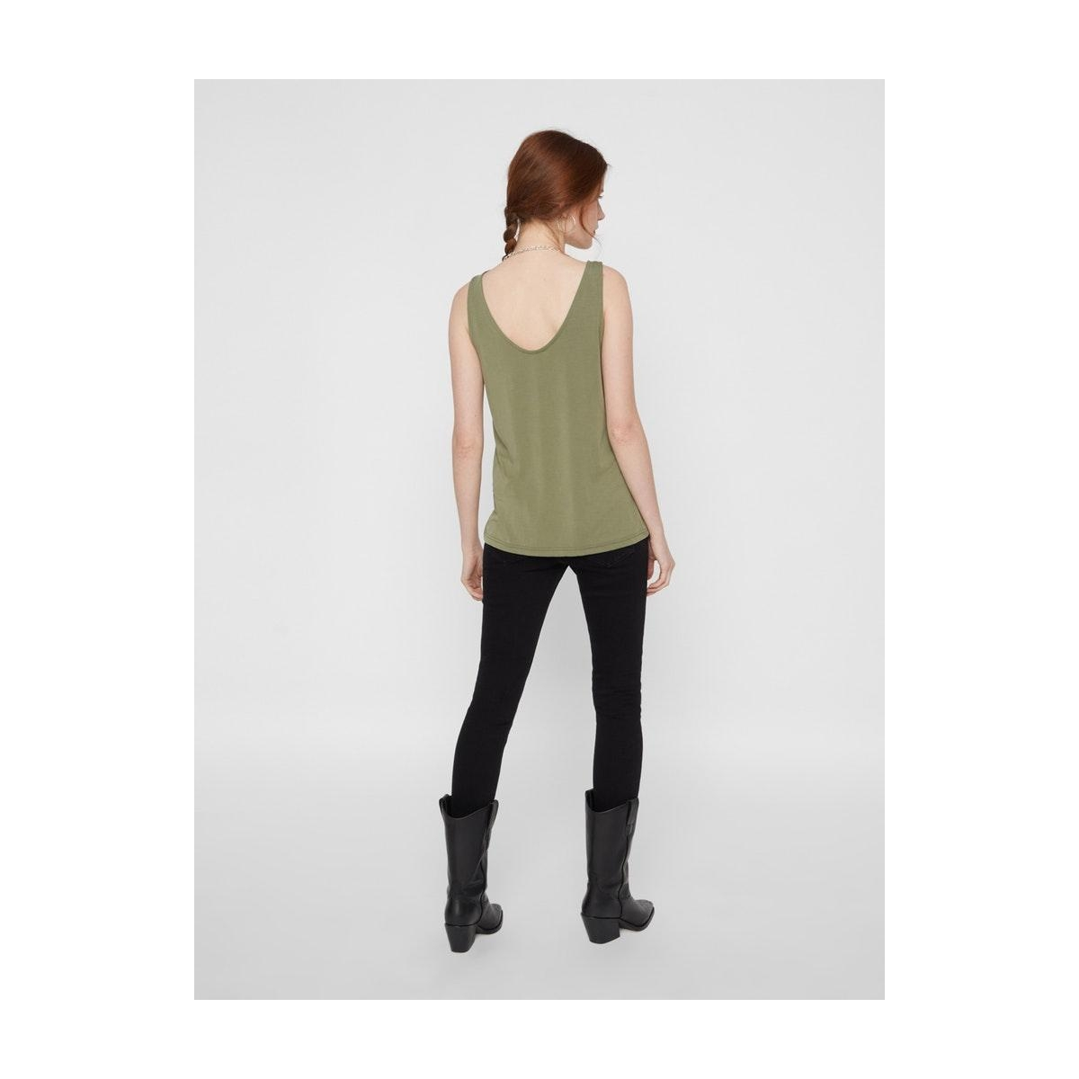 pckamala tank top noos bc 17100687 pieces top deep lichen green