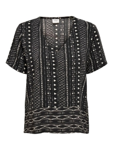 Jacqueline de Yong T-shirt JDYTIFFANY S/S TOP WVN 15201474 Black/SANDSHELL