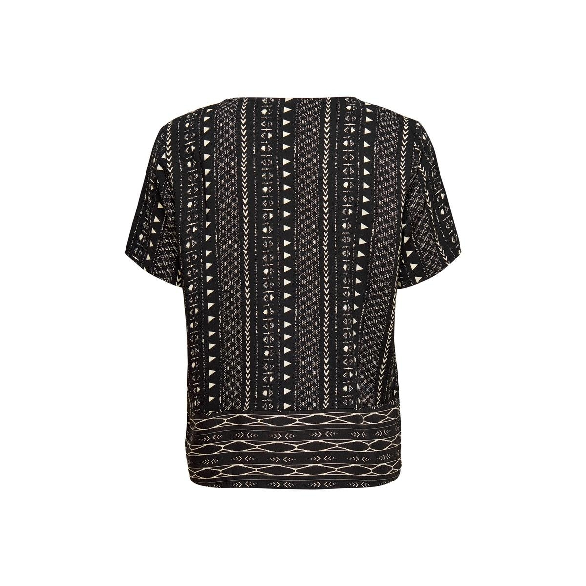 jdytiffany s/s top wvn 15201474 jacqueline de yong t-shirt black/sandshell