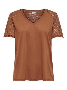 Jacqueline de Yong T-shirt JDYSTINNE S/S LACE TOP JRS 15183309 Argan Oil/DTM LACE