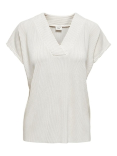Jacqueline de Yong T-shirt JDYESMARILLA S/S V-NECK TOP JRS RPT 15205082 CLOUD DANCER