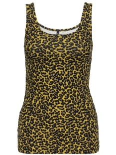 onllive love  printed tank top jrs 15170352 only top golden spice/leo