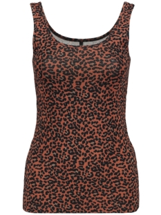 Only Top ONLLIVE LOVE  PRINTED TANK TOP JRS 15170352 BURNT HENNA/LEO