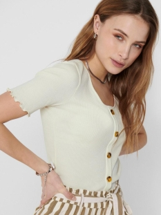 onljudith life s/s button top jrs n 15198277 only t-shirt eggnog