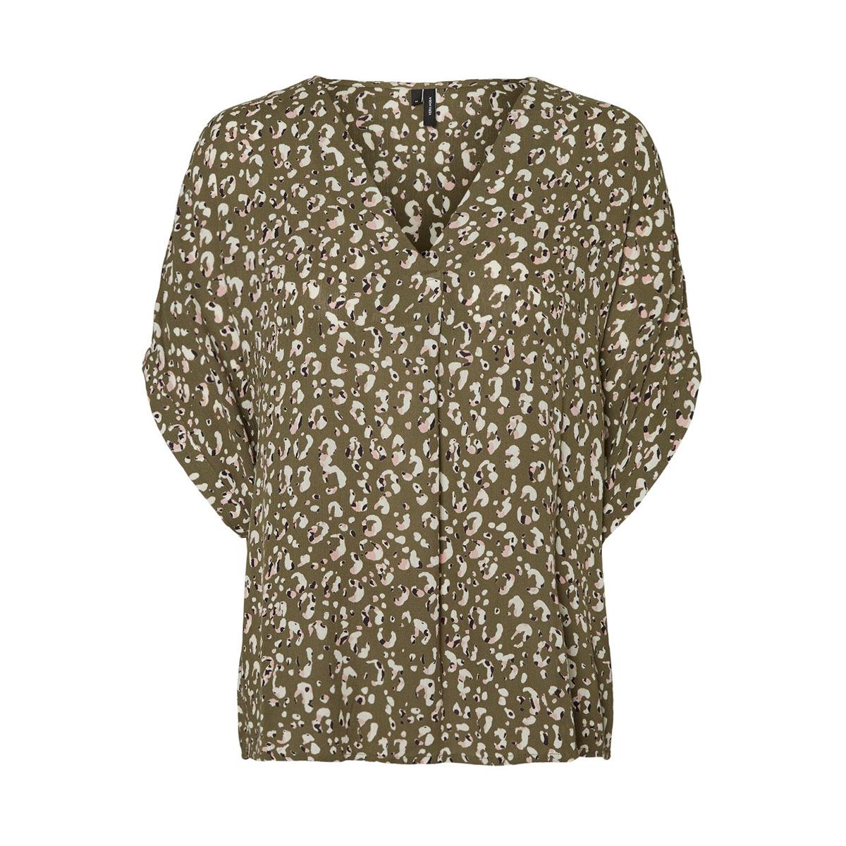 vmamsterdam s/s top exp 10218212 vero moda t-shirt ivy green/klaudia