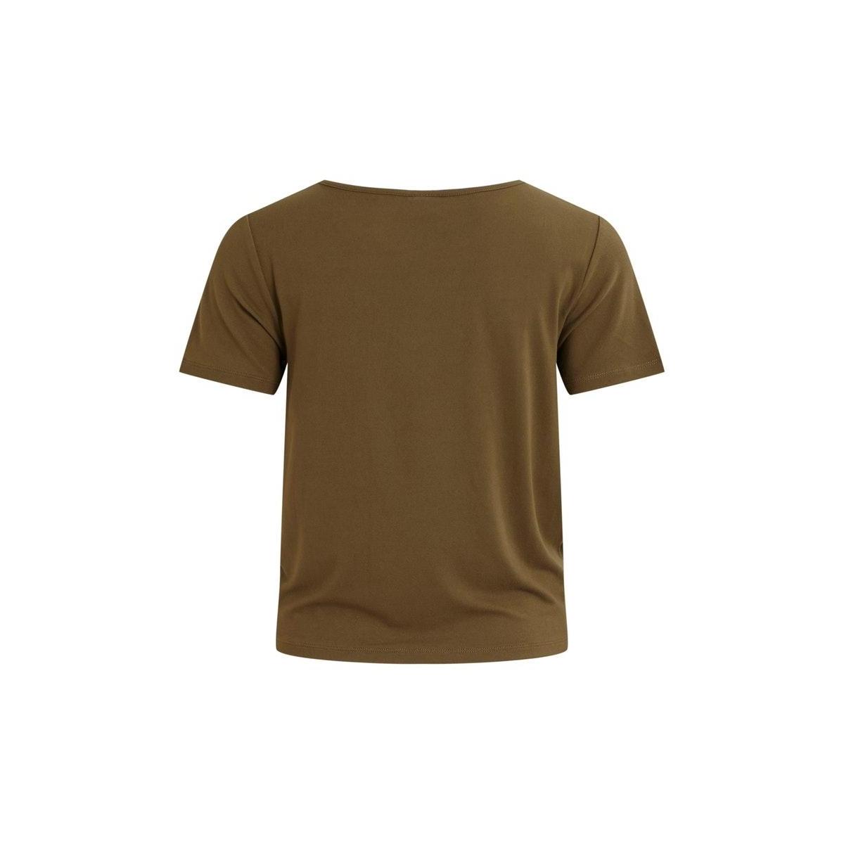 viwhisper s/s tie top/su 14057443 vila t-shirt dark olive