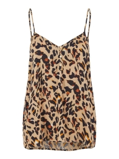Pieces Top PCNYA SLIP TOP PB 17102734 Warm Sand/LEO