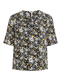 objbarb gemma s/s top 108 div 23033120 object blouse black/flower