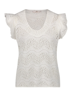 Aaiko T-shirt DENO LACE CO 513 LES BLANCS